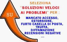 risolvi problemi mancato accesso casella di posta o social, estorsione, furto casella di posta, truffa, denuncia per diffamazione