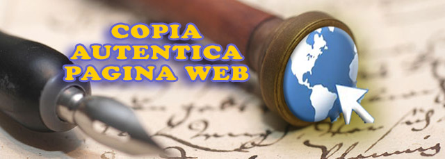copia autentica pagina web