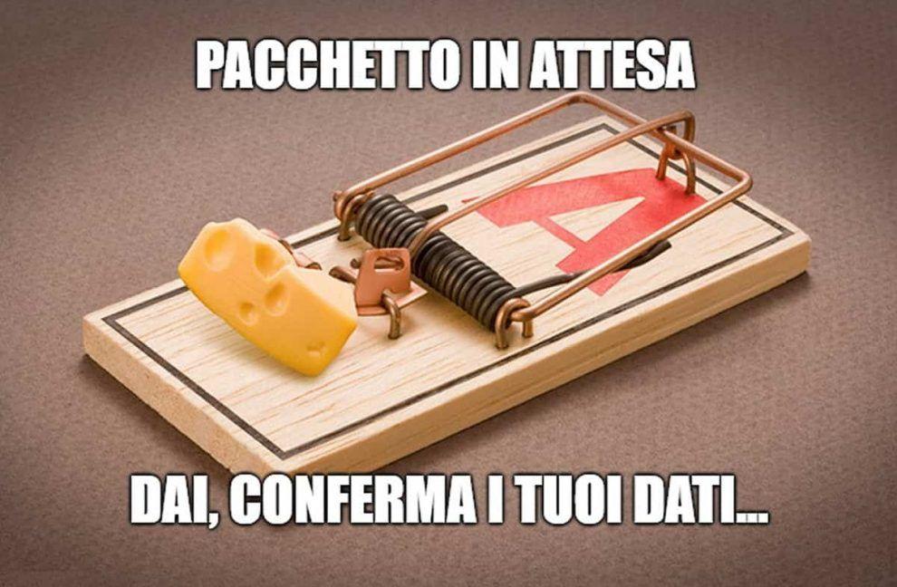 """""""Pacchetto in attesa per te, si prega di confermare""""… La nuova truffa via SMS/Whatsapp"""