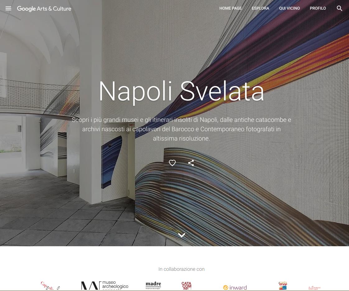 """Google raccoglie """"l'oro di Napoli"""" su Arts & Culture: arte antica, moderna e contemporanea per tutti (video)"""