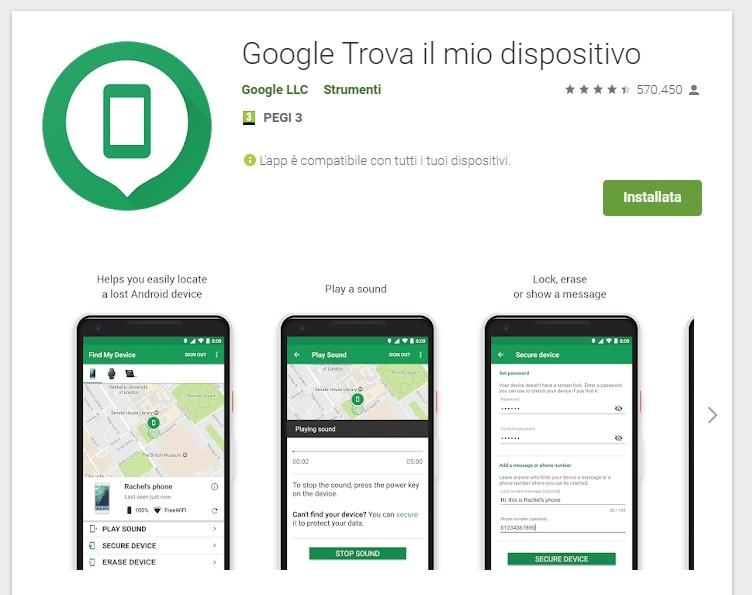 Trovare, bloccare o resettare un dispositivo Android smarrito