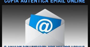Richiedi una Copia Autentica di una Email Online con l'Analisi dell'Header come prova legale