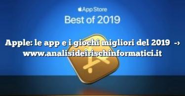 Apple: le app e i giochi migliori del 2019