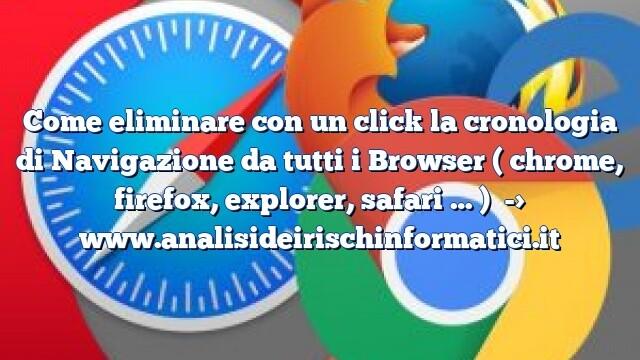 Come eliminare con un click la cronologia di Navigazione da tutti i Browser ( chrome, firefox, explorer, safari … )