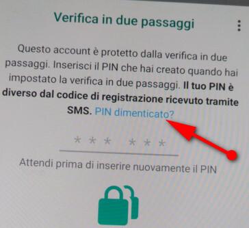 Come recuperare il PIN WhatsApp dimenticato?