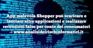 App malevola Shopper può scaricare e lanciare altre applicazioni e realizzare recensioni false per conto dei consumatori