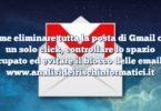Come eliminare tutta la posta di Gmail con un solo click, controllare lo spazio occupato ed evitare il blocco delle email