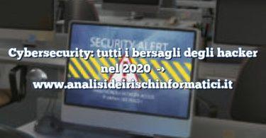 Cybersecurity: tutti i bersagli degli hacker nel 2020