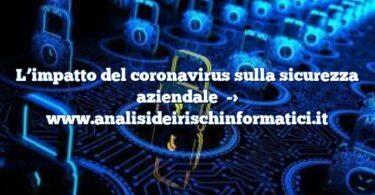 L'impatto del coronavirus sulla sicurezza aziendale
