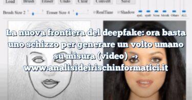 La nuova frontiera del deepfake: ora basta uno schizzo per generare un volto umano su misura (video)