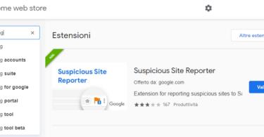 Vuoi segnalare siti malevoli a google : installa Suspicious Site Reporter