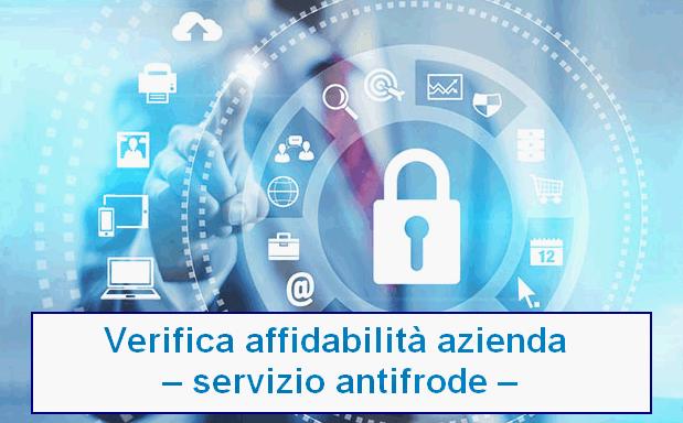 Verifica l'affidabilità di una azienda – servizio antifrode