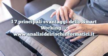 I 7 principali svantaggi dello Smart Working