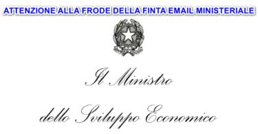 FRODE della finta email ministeriale che annuncia chiusura invernale dell'attività economica ai fini del contenimento del virus COVID19