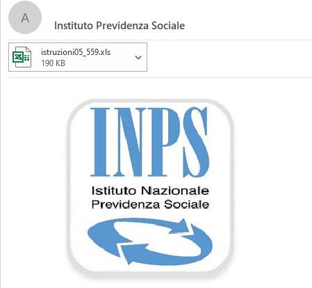 ATTENZIONE : finta Email dell'Istituto di Previdenza Sociale INPS. Non aprire allegato e cestinare subito