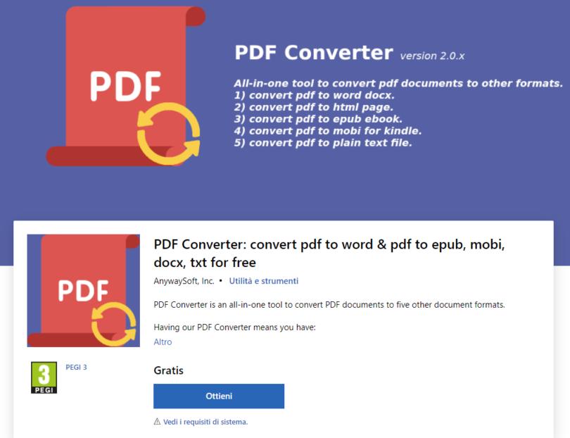 Convertire un file PDF in Immagini gratuitamente e leggerlo su una SMART TV