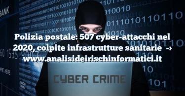 Polizia postale: 507 cyber-attacchi nel 2020, colpite infrastrutture sanitarie