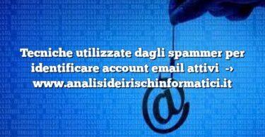 Tecniche utilizzate dagli spammer per identificare account email attivi