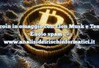 Bitcoin in omaggio con Elon Musk e Tesla? È solo spam