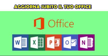 Ricordati di installare gli aggiornamenti di Microsoft Office