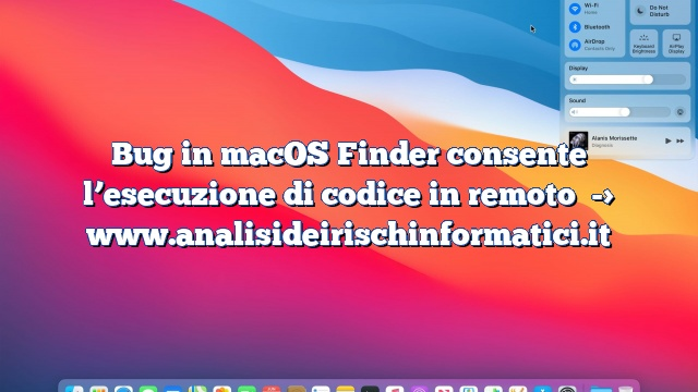 Bug in macOS Finder consente l'esecuzione di codice in remoto