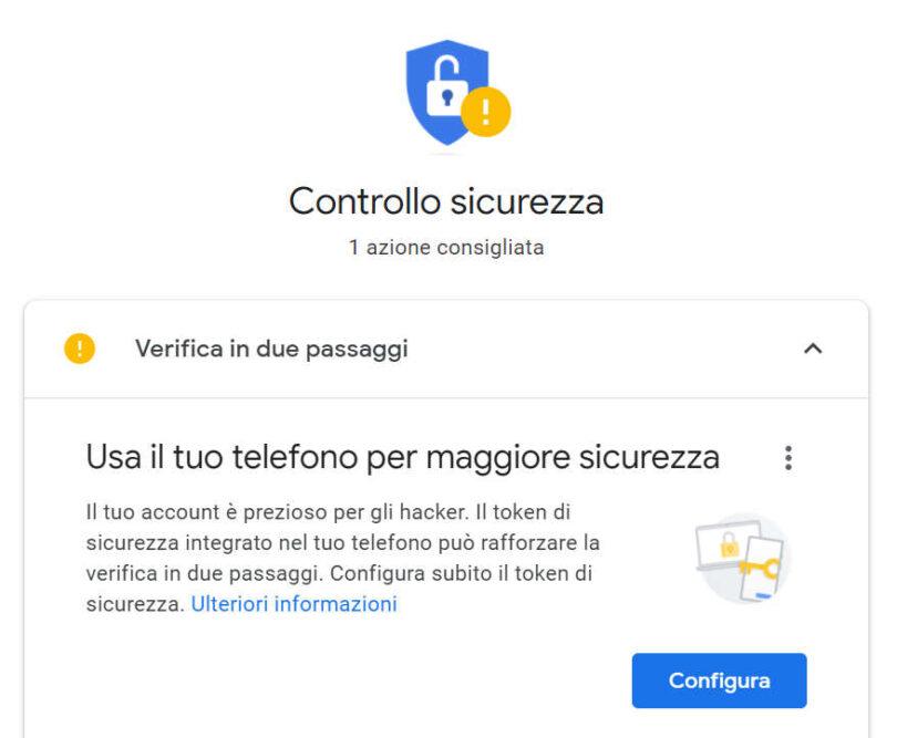Google attiverà l'autenticazione a due fattori (2FA) in automatico per 150 milioni di utenti