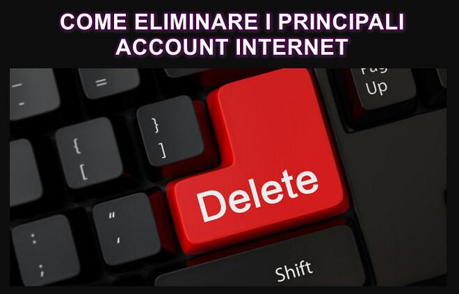 come eliminare account internet