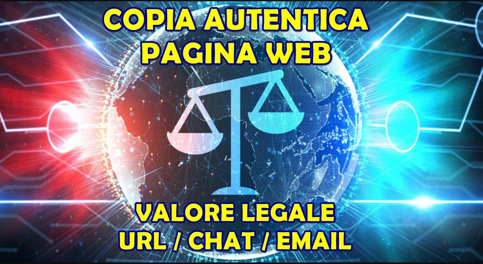 copia autentica pagina web