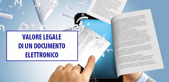 Valore legale documento informatico