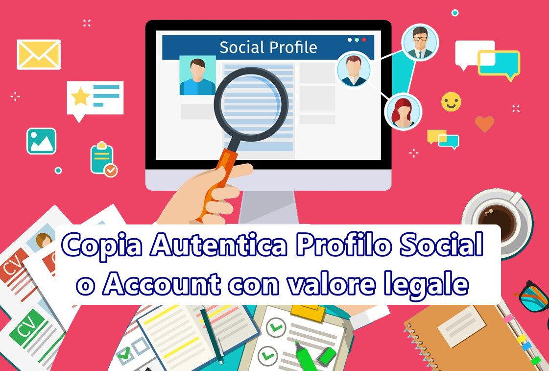 Copia Autentica Profilo Social o Account